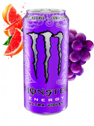 Monster Ultra Violet Grape Citric ZERO SUGAR | Polish Fioletowy 500 ml.