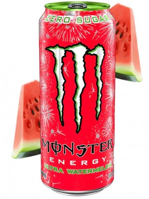 Bebida Energética Monster ZERO Ultra Watermelon | USA 473 ml