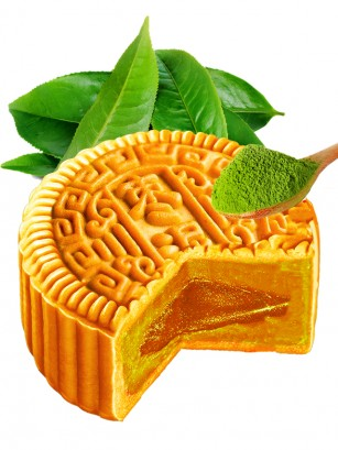 Pastel de Luna Grande relleno de Crema de Té Verde 150 grs.