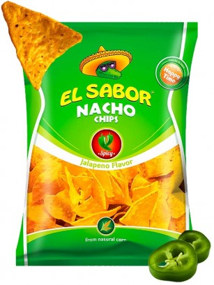 Nachos Sabor Jalapeño 100 grs.