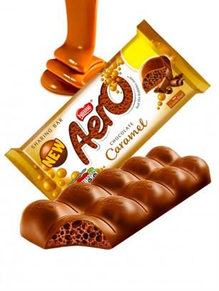 Chocolate Aero relleno de Mousse de Caramelo 90 grs.
