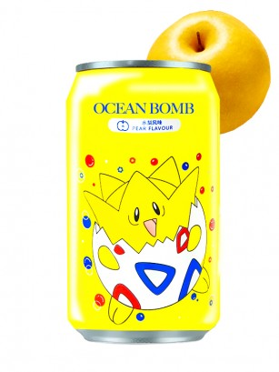 Agua Soda Sabor Pera | Edición Togepi Pokemon 330 ml