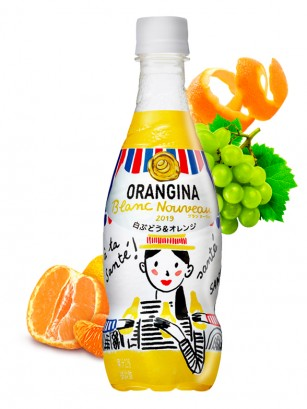 Refresco Naranja y Uva Blanca Orangina Sparkling Japón | 420 ml