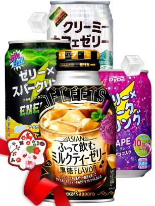 JaponShop Premium Box Bebidas Jelly | Top Hits Gift Selection