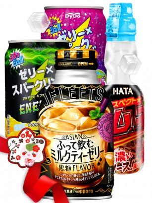 JaponShop Premium Box Bebidas Jelly & Ramune | Top Hits Gift Selection