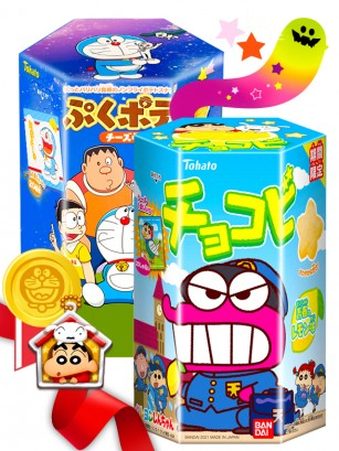DUO PERFECTO Doraemon Snack &  Shin Chan Sorbete  | Gift
