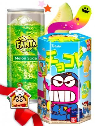 DUO PERFECTO Fanta Melon &  Shin Chan Sorbete  | Gift