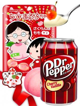 DUO PERFECTO Gominolas Maruko Chan &  Dr Pepper Cherry Vainilla | Gift