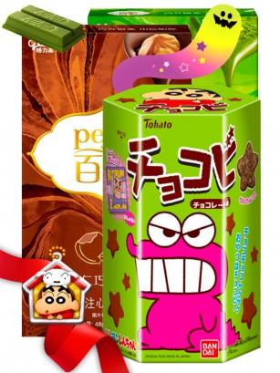 Happy Halloween Shin Chan & Kit Kat & Pocky Pejoy Family | Gift