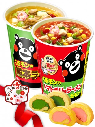 JaponShop Oso Kumamon Box Ramen Cake Roll | Top Hits Gift Selection