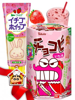 DUO PERFECTO Crema de Fresa & Shin Chan Fresa | Gift
