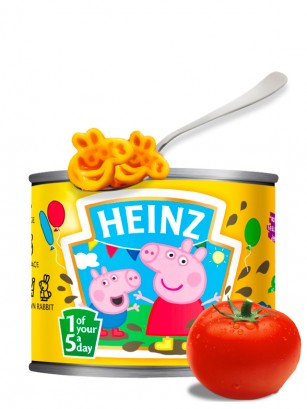 Pasta con Tomate de Peppa Pig | Heinz 205 grs.