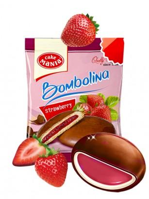 Pastelito Bañado en Chocolate y relleno de Fresa | Bombolina 55 grs