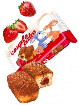 Bizcochitos rellenos de Crema de Fresas | Couple Cakes 60 grs.