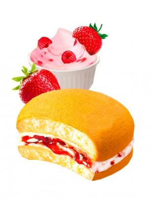 Choco Pie con Crema de Fresas y Frambuesas | Receta Coreana Unidad 28 grs.