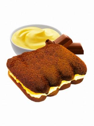 Pastelito Biscuit de Cacao relleno de Crema de Vainilla | 80 grs.