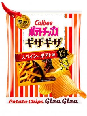 Patatas Calbee Giza Giza | Picantes | 58 grs.
