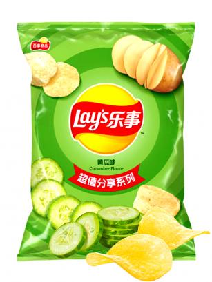 Patatas Lays Xtra Sabor Pepino | Asia Recipe 70 grs.