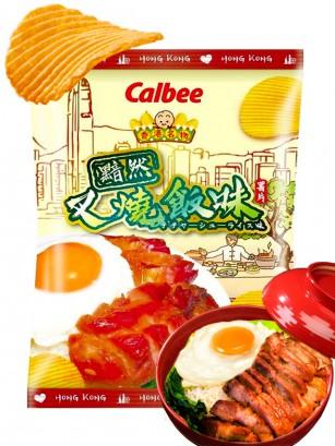 Patatas Onduladas Calbee Sabor Cerdo Char Siu Rice | 70 grs.