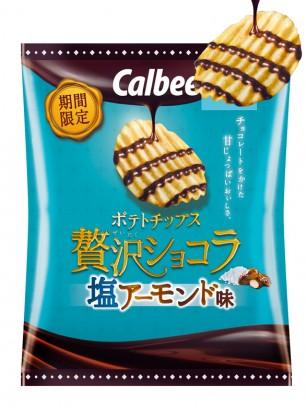 Patatas Calbee con Chocolate Almond Salty 50 grs.