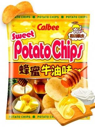 Patatas Chips Calbee con Miel, Mantequilla y Mascarpone 55 grs.