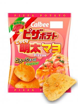 Patatas Calbee sabor Pizza con Mayonesa y Tarako con Queso Fundido 60 grs.