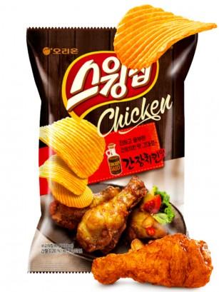 Chips Onduladas Coreanas con Salsa de Pollo Marinado 60 grs.