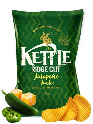 Patatas Kettle con Queso Jack y Jalapeños 135 grs.