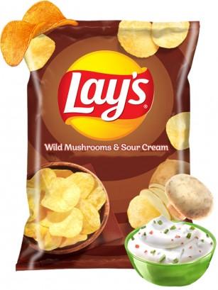 Patatas Lays Sabor Champiñones y Salsa Agria 140 grs