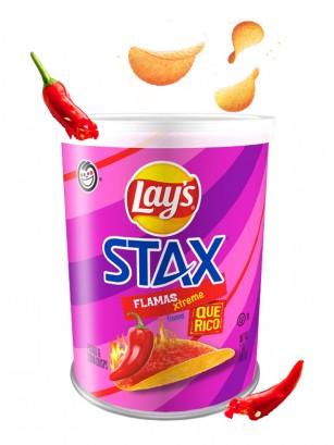 Patatas Lays Stax Qué Rico | Flamas Xtreme 56 grs.