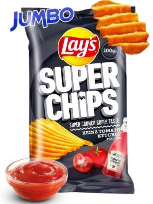 Patatas Lays Super Chips Crunch Ketchup Heinz | Jumbo | 200 grs