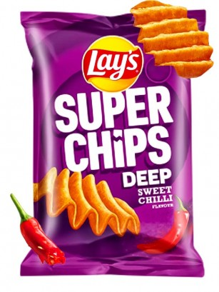 Patatas Lays Super Chips Crunch Sweet Chili  147 grs