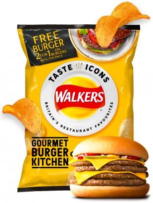 Patatas Fritas Walkers Lays Sabor Classic Cheeseburger | Snack Bag 25 grs.