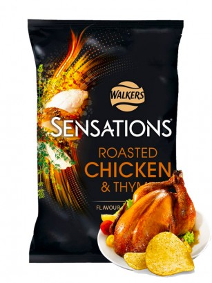 Patatas Fritas Walkers Sensations Pollo Asado y Tomillo | Big Bag 150 grs