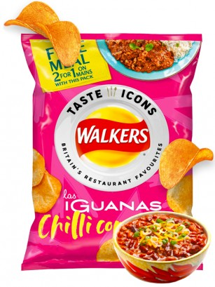 Patatas Fritas Walkers Lays Sabor Chilli con Carne | Snack Bag 25 grs.