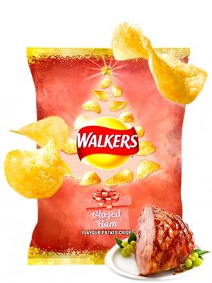Patatas Fritas Walkers Lays Sabor Jamón Glaseado | Edición Navideña 25 grs