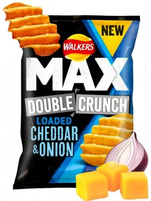 Patatas Fritas Onduladas Walkers MAX Double Crunch Cheddar y Cebolla 50 grs.