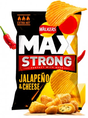Patatas Fritas Onduladas Walkers MAX Lays Jalapeños Queso EXTRA HOT 70 grs