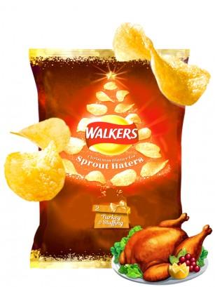 Patatas Fritas Walkers Lays Sabor Pavo Relleno | Edición Navideña 25 grs