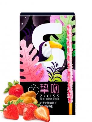 Sticks KISS Té Fresa y Toppings Cacahuete 50 grs