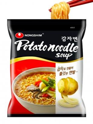 Fideos Ramen Coreanos de Patata, Carne y Verduras