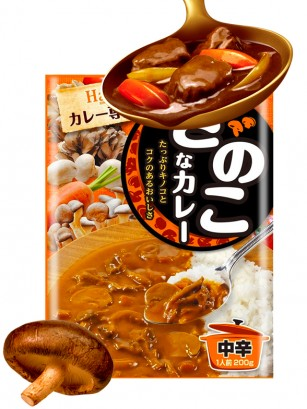 Curry Fresco Japonés Con Setas | Medio Picante 200 grs