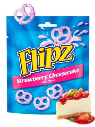 Pretzels con Cobertura de Tarta de Queso con Fresas  | Flipz 90 grs