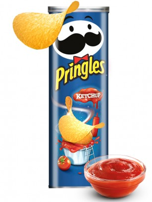 Pringles Sabor Intenso Ketchup 165 grs