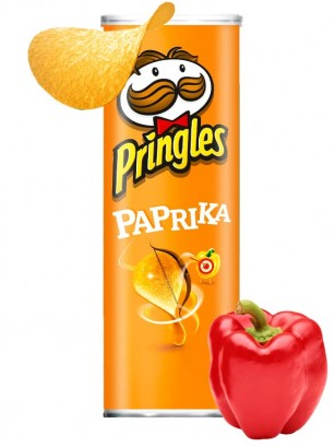 Pringles Paprika Hete Peper 165 grs.