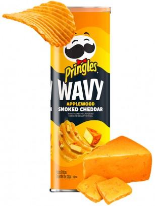 Pringles Onduladas Wavy Sabor Cheddar Ahumado 137 grs.