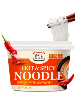 Fideos de Arroz Coreanos con Hot & Spicy | Big Bowl 92 grs.