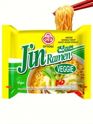 Fideos Ramen Coreanos Ramyun Jin Green | Veggie | Picante 110 grs