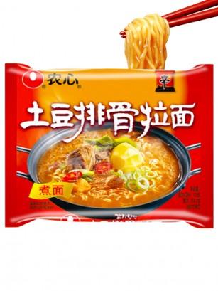 Ramen Coreano de Costillas y Patata Frita