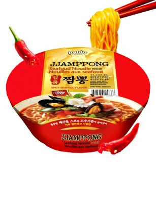 Ramen Coreano Jjamppong Seafood Hot & Spicy | Gold Bowl 116 grs.